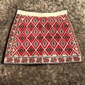 LF multi colored mini skirt